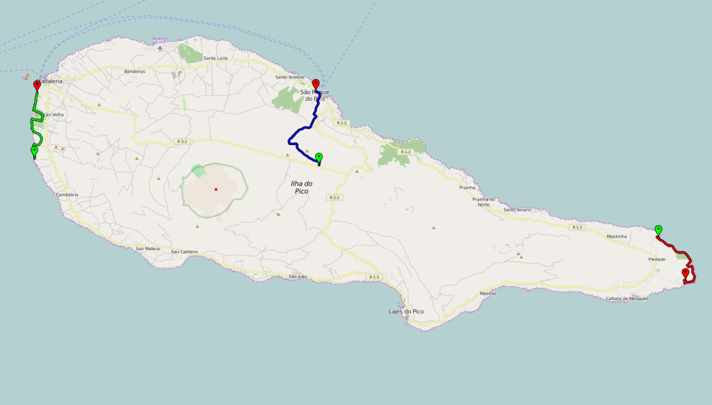Azores maps of 3 walks